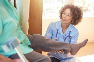 knee replacement patient